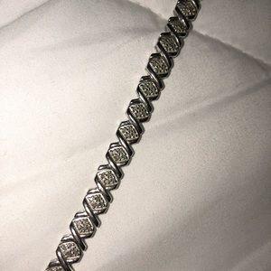 Sterling silver XO bracelet